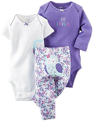 Carter's Baby Girls' 3 Piece Take Me Away Set (Baby) – Owl – 3M