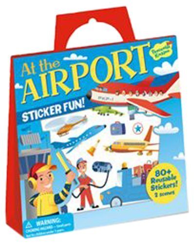 Reusable Sticker Clings Offer Hours Of Fun - Peaceable Kingdom At The Airport Reusable Sticker Tote