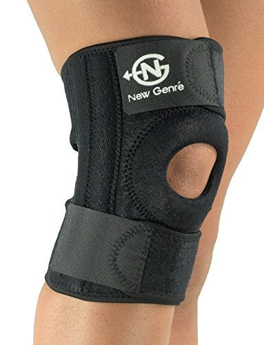 Knee Support Brace (Black) | Adjustable Straps for Most Sizes | ACL and MCL Stabilizing