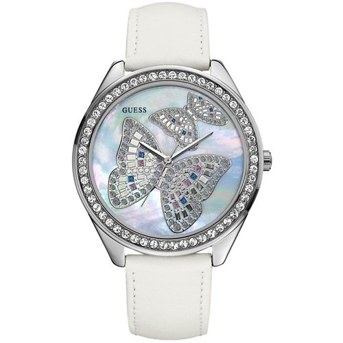 GUESS Mosaic Butterfly Watch
