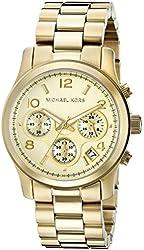 Michael Kors Watches Gold Chronograph Runway Watch