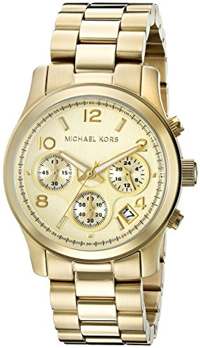 Michael Kors Midsized Chronograph Gold Tone Womens Watch MK5055