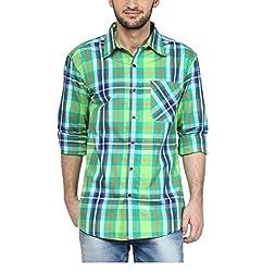 Yepme Men's Green Cotton Shirts - YPMSHRT1133_36