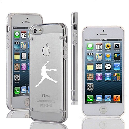 Apple iPhone 5c Ultra Thin Transparent Clear Hard TPU Case Cover Female Softball Pitcher (White) (Iphone 5c Case Softball Pitcher compare prices)