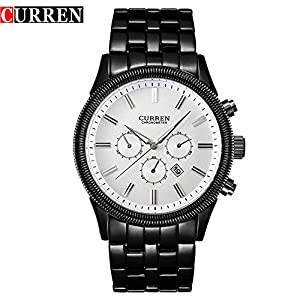 CURREN Fashion New Men's Watch Waterproof Sport Quartz WristWatches 8058G
