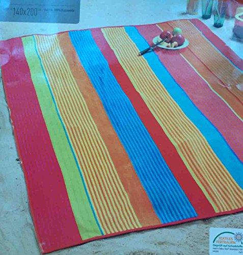 Velours Strandtuch 140x200cm Liegeüberwurf 100% Baumwolle orange