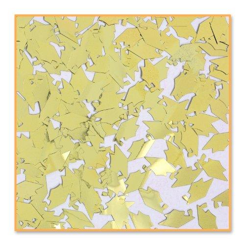 Beistle CN015  Grad Caps Confetti, Gold - 1