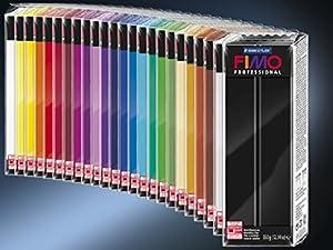 FIMO Professional Modelling Clay 13 oz Bar - Black (Color: Black, Tamaño: 350g)