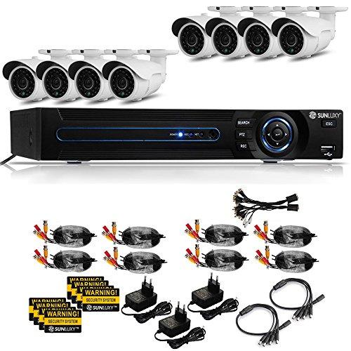 Bestselling 16CH Kanal H.264 960H HDMI CCTV DVR Sicherheit Videoüberwachungssystem mit 8x 800TVL Überwachungskamera Set Wasserdicht IR Nachtsicht Außen
