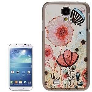 Illustration Flower Pattern Plastic Case for Samsung Galaxy S4 i9500