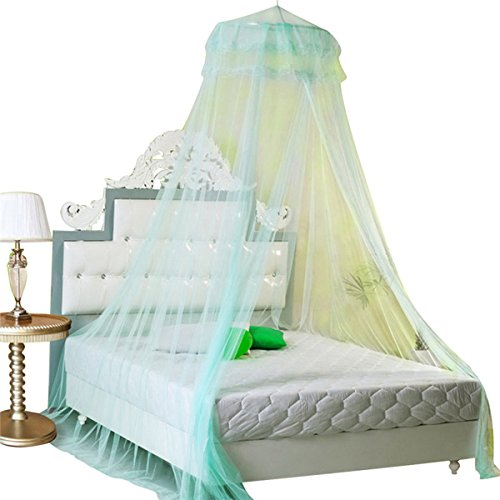 housweety-new-round-lace-curtain-dome-bed-canopy-netting-princess-mosquito-net-aqua-green