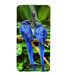 Vizagbeats blue parrots Back Case Cover for Asus Zenfone 2::Asus Znfone 2 ZE550ML