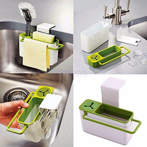 Suction Cup Base Kitchen Brush Sponge Sink Draining Towel Rack Washing Holder (Crowbar Prop)