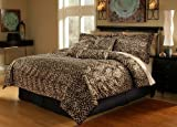 51teyoVnlkL. SL160  7Pcs Queen Leopard Faux Fur Bed in a Bag Comforter Set
