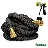 50' Heavy Duty Expandable Garden Water Hose by KONA + Free 8-Way Sprayer