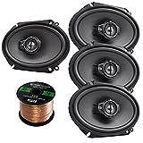 Car Speaker Package Of 4x (2 Pairs) Kenwood KFC-C6895PS 720-Watt 6x8