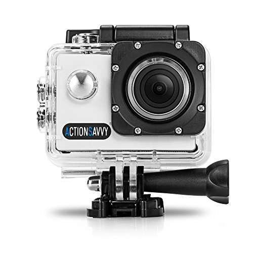 ActionSavvy 007 1080P HD Action Camera 30m/98feet Waterproof 2 Inch Screen 170° Wide Angle SD Card HDMI Output Diving Helmet Camera Surfing Snorkeling Biking Camera WiFi App