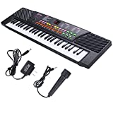 Ghp 54 Keys Black Music Electronic Keyboard Kid Piano Organ W Toy Microphone