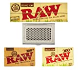 RAW 300s Rolling Paper Bundle with Shredder Case + RAW Sticker