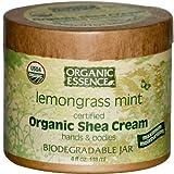 Shea Cream Og Lemongrass 4 Oz By Organic Essence Pure Organic