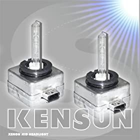 HID Xenon Low Beam Headlight Replacement Bulbs by Kensun - (Pack of two bulbs) - D3R - 15000K
