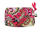 Vera Bradley Small Cosmetic Bag in Very Berry Paisley