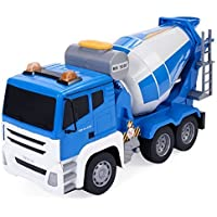 Safstar 1/18 5 Ch Remote Control Cement Mixer Truck Construction Vehicle With Sound And Lights For Kids Toy