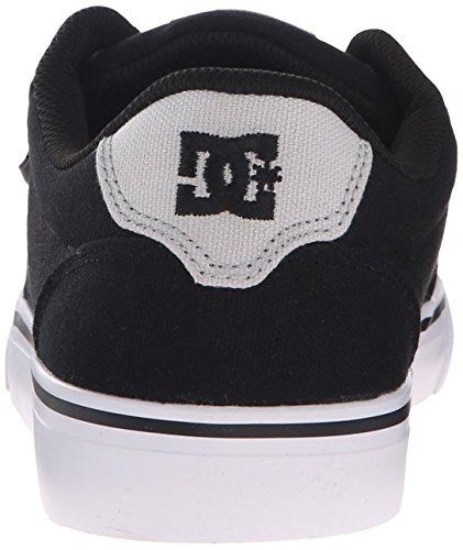 DC Men's Anvil TX Skateboarding Shoe, Black/Grey, 9 M US