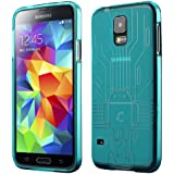 Galaxy S5 Case, Cruzerlite Bugdroid Circuit TPU Case Compatible with Samsung Galaxy S5 - Teal