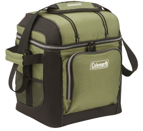 Coleman 30-Can Soft Cooler With Hard Liner, Green