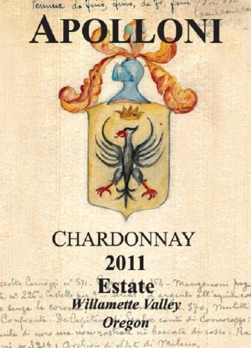 2011 Apolloni Willamette Valley Estate Chardonnay 750 Ml
