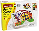 Acquista Quercetti 0954 - Fantacolor Portable Large - 300 Chiodini Quadrati e Triangolari