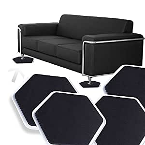 8 Magic Mover Moving Sliders Pads Furniture Gliders Carpet Flooring Coaster