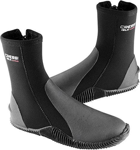 Cressi Boots With Soles Calzari in Neoprene con Suola, 3,5mm, Nero, M