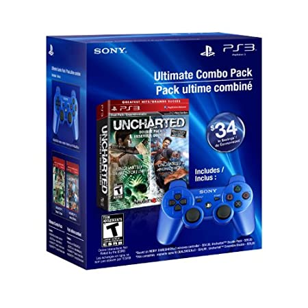 PS3 Uncharted 1 and 2 Dual Pack DualShock 3 - Blue