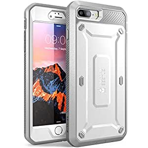 iPhone 7 Plus Case, SUPCASE Full-body Rugged Holster Case with Built-in Screen Protector for Apple iPhone 7 Plus (2016 Release), Unicorn Beetle PRO Series - Retail Package (White/Gray)