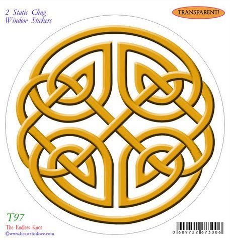 The Endless Knot Static Cling Window Stickers