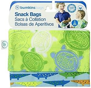 Amazon.com - Snack-bolsa reutilizable, Crocs y tortugas, 2-count -