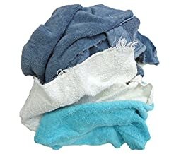 Pro-Clean Basics A99605 Recycled Cloth Rags, 9 lb. Bag, Colored (Pack of 32)