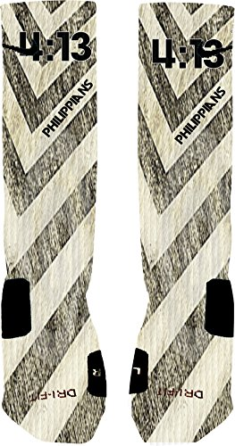 Philippians 4:13 Custom Nike Elite Socks (Large 8-12) (Custom Made Socks compare prices)