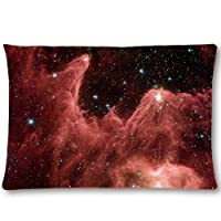 AiHoueW Decorative Cotton Polyester 20x30 Rectangle Throw Pillow Case Cushion Cover One Side - Amazing Universe Space Nebula Galaxy Beautiful Pattern 11 by AiHoueW