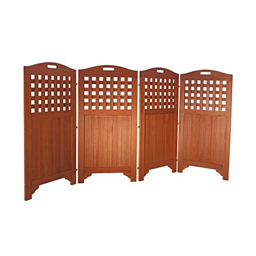 Teak outdoor privacy screen a great way to enjoy your for Outdoor wood privacy screen