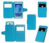 【全5色】IVSO®オリジナルUPQ Phone A01(4.5-4.8インチ) ケース 上質PUレザーケース 超薄型 最軽量 さらさらタイプ スマートフォンケース ワイヤー雨のシリーズ - UPQ Phone A01(4.5-4.8インチ ) 適用 (ブルー)
