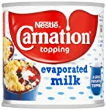 Nestlé Carnation Topping Evaporated Milk 170 g (Pack of 24)