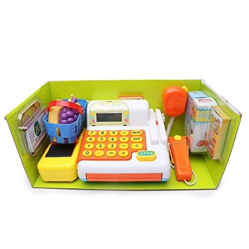 wishtime jouet caisse enregistreuse lectronique avec. Black Bedroom Furniture Sets. Home Design Ideas