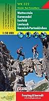 Carte de randonnée : Wetterstein, Karwendel, Seefeld, Leutasch, Garmisch Partenkirchen