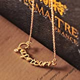 HuntGold Lady Girl Sexy Constellation Style Gemini Cancer Leo etc. Necklace Chain Pendant(Capricorn)