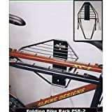 Racor Double Folding Storage Rack -- Two Bike Capacity