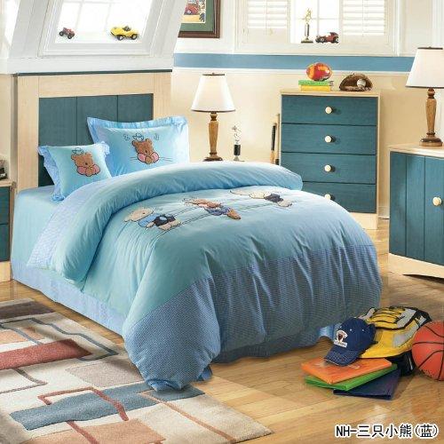 Diaidi,Kids Bedding Sets,Bedclothes For Kids,Cartoon Bed Sets,Kids Duvet Cover Sets,Kids Queen Size Bedding,Twin Bedding Set,4Pcs (Queen, 15)