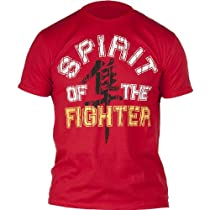 Hayabusa Official MMA Spirit of the Fighter T-Shirts/Tee - Red/Yellow / 2X-Large